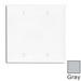 Leviton 80725-GY 2-Gang Standard-Size No Device Blank Wallplate; Box Mount, Thermoplastic Nylon, Gray