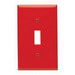Leviton 80701-R 1-Gang Standard-Size Toggle Switch Wallplate; Device Mount, Thermoplastic Nylon, Red