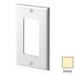 Leviton 80401-NI Decora® 1-Gang Standard-Size GFCI Decorator Wallplate; Device Mount, Thermoplastic Nylon, Ivory