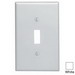 Leviton 80501-W 1-Gang Midway-Size Toggle Switch Wallplate; Device Mount, Thermoset Plastic, White