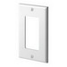 Leviton 80401-NW Decora® 1-Gang Standard-Size GFCI Decorator Wallplate; Device Mount, Thermoplastic Nylon, White