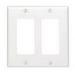 Leviton 80409-NW Decora® 2-Gang Standard-Size GFCI Decorator Wallplate; Device Mount, Thermoplastic Nylon, White
