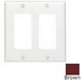 Leviton 80409-N Decora® 2-Gang Standard-Size GFCI Decorator Wallplate; Device Mount, Thermoplastic Nylon, Brown