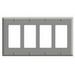 Leviton 80412-GY Decora® 4-Gang Standard-Size GFCI Decorator Wallplate; Device Mount, Thermoset Plastic, Gray