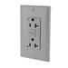 Leviton 7899-HGG SmartlockPro® Double Pole GFCI Receptacle; Box Mount, 125 Volt, 20 Amp, Gray