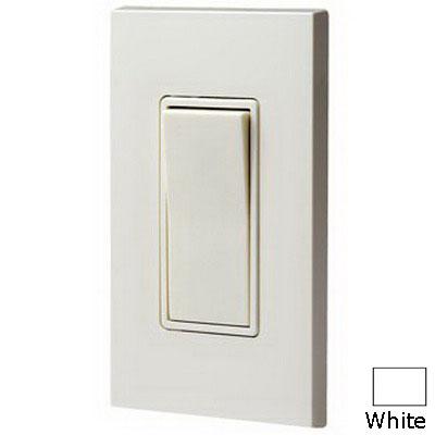 Leviton 5613-2W Decora® Illuminated Off AC Quiet 3-Way Rocker Switch; 1-Pole, 120/277 Volt AC, 15 Amp, White