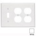 Leviton 88047 3-Gang Standard-Size Combination Wallplate; Device Mount, Thermoset Plastic, White
