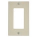 Leviton 80401-A Decora® 1-Gang Standard-Size GFCI Decorator Wallplate; Device Mount, Thermoset Plastic, Almond