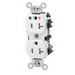 Leviton 5362-IGW Double Pole Isolated Ground Straight Blade Duplex Receptacle; Wall Mount, 125 Volt, 20 Amp, White