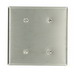 Leviton 84034-40 2-Gang Standard-Size No Device Blank Wallplate; Strap Mount, Stainless Steel, Silver