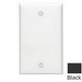 Leviton 80714-E 1-Gang Standard-Size No Device Blank Wallplate; Box Mount, Thermoplastic Nylon, Black
