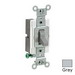 Leviton CS120-2GY Specfication Grade AC Quiet Toggle Switch; 1-Pole, 120/277 Volt AC, 20 Amp, Gray