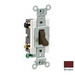 Leviton CS420-2 Specfication Grade AC Quiet 4-Way Toggle Switch; 2-Pole, 120/277 Volt AC, 20 Amp, Brown