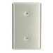 Leviton 84019-40 1-Gang Standard-Size No Device Blank Wallplate; Strap Mount, Stainless Steel, Silver