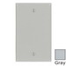 Leviton 87014 1-Gang Standard-Size No Device Blank Wallplate; Box Mount, Thermoset Plastic, Gray