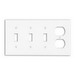 Leviton P38-W 4-Gang Standard-Size Combination Wallplate; Device Mount, Thermoset Plastic, White