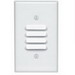 Leviton 88080 1-Gang Standard-Size Louvre Device Wallplate; Strap Mount, Painted Metal, White