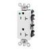 Leviton 16362-HGW Decora® Plus Double Pole Straight Blade Duplex Receptacle; Wall Mount, 125 Volt, 20 Amp, White