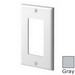 Leviton 80401-NGY Decora® 1-Gang Standard-Size GFCI Decorator Wallplate; Device Mount, Thermoplastic Nylon, Gray