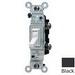 Leviton 1451-2E AC Quiet Framed Toggle Switch; 1-Pole, 120 Volt AC, 15 Amp, Black