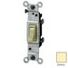 Leviton 1451-2I AC Quiet Framed Toggle Switch; 1-Pole, 120 Volt AC, 15 Amp, Ivory