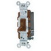 Leviton 1453-2 AC Quiet 3-Way Framed Toggle Switch; 120 Volt AC, 15 Amp, Brown
