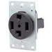 Leviton 278 Three Pole Straight Blade Receptacle; Flush Mount, 125/250 Volt, 30 Amp, Black