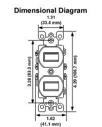 leviton 5243 w combination toggle switches crescent electric rh cesco com Pump Float Switch Wiring Diagram Double Light Switch Wiring Diagram
