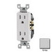 Leviton T5325-GY Decora® Tamper Resistant Double Pole Straight Blade Duplex Receptacle; Wall Mount, 125 Volt, 15 Amp, Gray