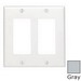 Leviton 80409-NGY Decora® 2-Gang Standard-Size GFCI Decorator Wallplate; Device Mount, Thermoplastic Nylon, Gray