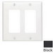 Leviton 80409-NE Decora® 2-Gang Standard-Size GFCI Decorator Wallplate; Device Mount, Thermoplastic Nylon, Black