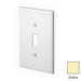 Leviton PJ1-I 1-Gang Midway-Size Toggle Switch Wallplate; Device Mount, Thermoplastic Nylon, Ivory