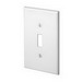 Leviton PJ1-W 1-Gang Midway-Size Toggle Switch Wallplate; Device Mount, Thermoplastic Nylon, White