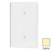 Leviton 80719-I 1-Gang Standard-Size No Device Blank Wallplate; Strap Mount, Thermoplastic Nylon, Ivory