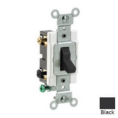 Leviton CS220-2E Heavy Duty Specification Grade AC Quiet Toggle Switch 2-Pole  120/277 Volt AC  20 Amp  Black