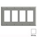 Leviton PJ264-W Decora® 4-Gang Midway-Size GFCI Decorator Wallplate; Device Mount, Thermoplastic Nylon, White
