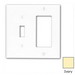 Leviton 80707-I Decora® 2-Gang Standard-Size Combination Wallplate; Device Mount, Thermoplastic Nylon, Ivory