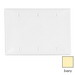 Leviton 80735-I 3-Gang Standard-Size No Device Blank Wallplate; Box Mount, Thermoplastic Nylon, Ivory