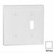 Leviton 80706-W Decora® 2-Gang Standard-Size Combination Wallplate; Box Mount, Thermoplastic Nylon, White