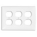 Leviton 80730-W 3-Gang Standard-Size Duplex Receptacle Wallplate; Device Mount, Thermoplastic Nylon, White
