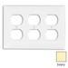 Leviton 80730-I 3-Gang Standard-Size Duplex Receptacle Wallplate; Device Mount, Thermoplastic Nylon, Ivory