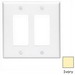 Leviton PJ262-I Decora® 2-Gang Midway-Size GFCI Decorator Wallplate; Device Mount, Thermoplastic Nylon, Ivory