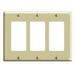 Leviton PJ263-I Decora® 3-Gang Midway-Size GFCI Decorator Wallplate; Device Mount, Thermoplastic Nylon, Ivory