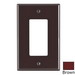 Leviton PJ26 Decora® 1-Gang Midway-Size GFCI Decorator Wallplate; Device Mount, Thermoplastic Nylon, Brown