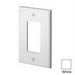 Leviton PJ26-W Decora® 1-Gang Midway-Size GFCI Decorator Wallplate; Device Mount, Thermoplastic Nylon, White