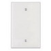 Leviton PJ13-W 1-Gang Midway-Size No Device Blank Wallplate; Box Mount, Thermoplastic Nylon, White