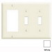 Leviton PJ226-W Decora® 3-Gang Midway-Size Combination Wallplate; Device Mount, Thermoplastic Nylon, White