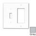 Leviton 80707-GY Decora® 2-Gang Standard-Size Combination Wallplate; Device Mount, Thermoplastic Nylon, Gray