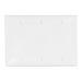Leviton 80735-W 3-Gang Standard-Size No Device Blank Wallplate; Box Mount, Thermoplastic Nylon, White