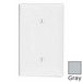 Leviton 80719-GY 1-Gang Standard-Size No Device Blank Wallplate; Strap Mount, Thermoplastic Nylon, Gray